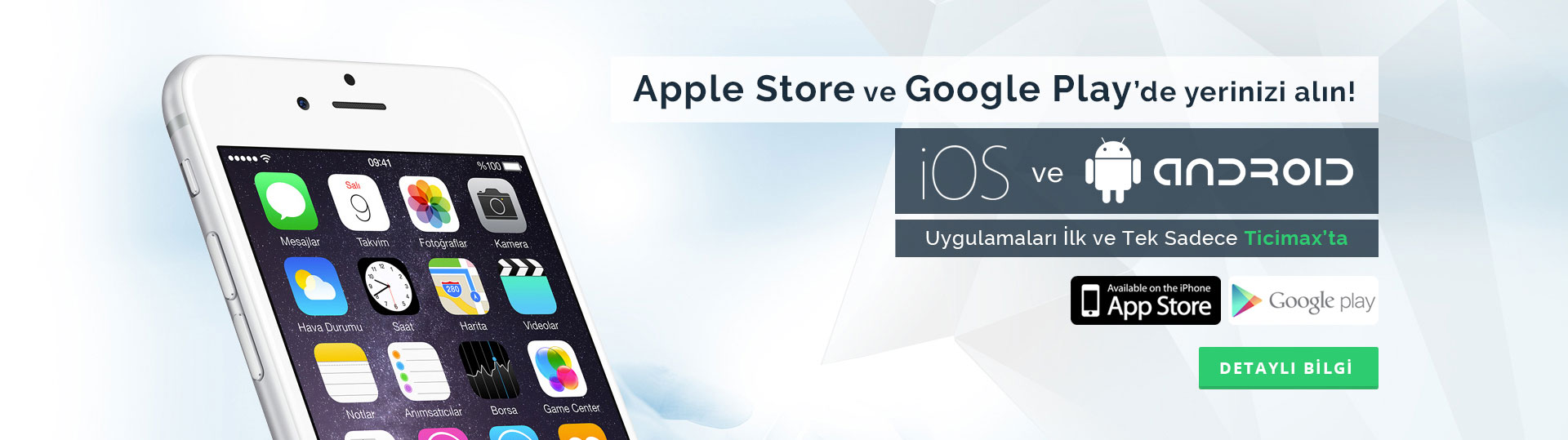Eticaret Apple Store ve Google Play'de